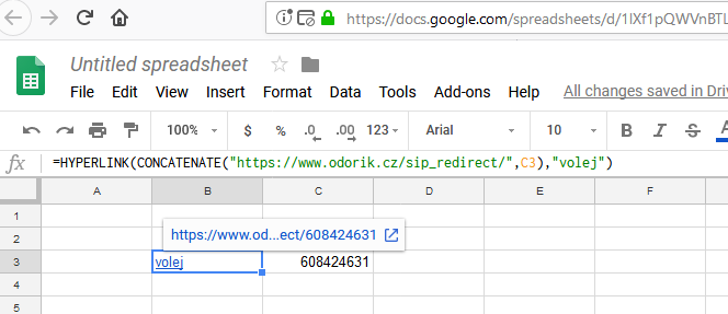 Google spreadsheet - own URL