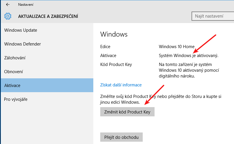 windows 8 pro upgraded to windows 10 pro license or product key